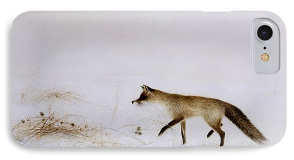 Fox In Snow IPhone Case by Jane Neville