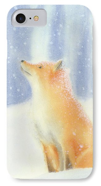 IPhone Case featuring the painting Fox In The Snow by Taylan Apukovska