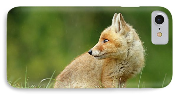 Fox Kit In A Summer Shower IPhone Case by Roeselien Raimond