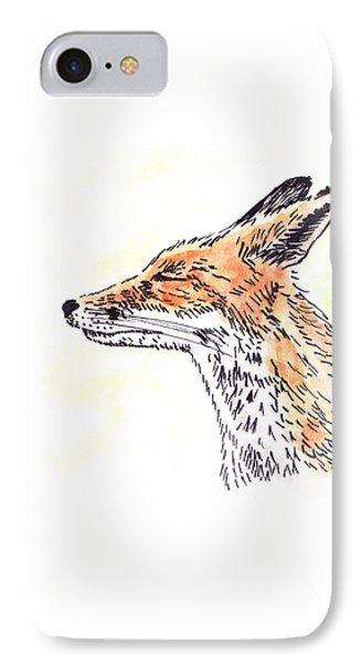 Fox IPhone Case by Masha Batkova