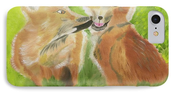 Red Fox Kit Kisses IPhone Case