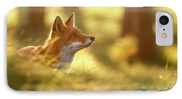 Fox Of Hope IPhone Case by Roeselien Raimond