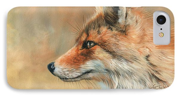 Fox Portrait IPhone Case by David Stribbling