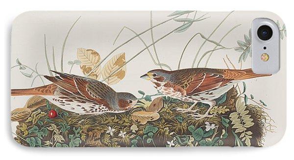 Fox Sparrow IPhone 7 Case by John James Audubon