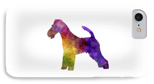 Fox Terrier In Watercolor IPhone Case by Pablo Romero