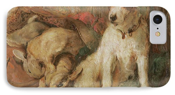 Fox Terrier With The Day's Bag IPhone Case by English School