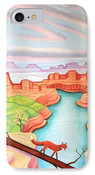 Fox Trotting IPhone Case by Tracy Dennison