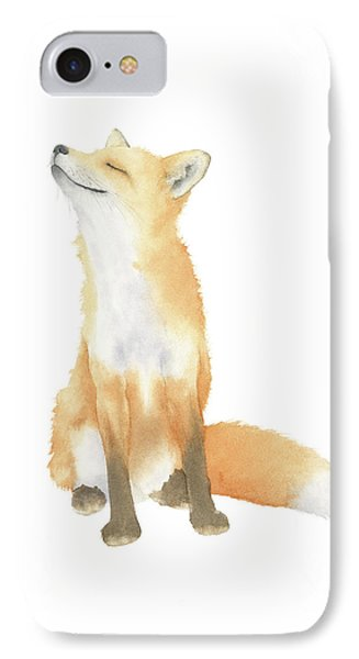 IPhone Case featuring the painting Fox Watercolor by Taylan Apukovska