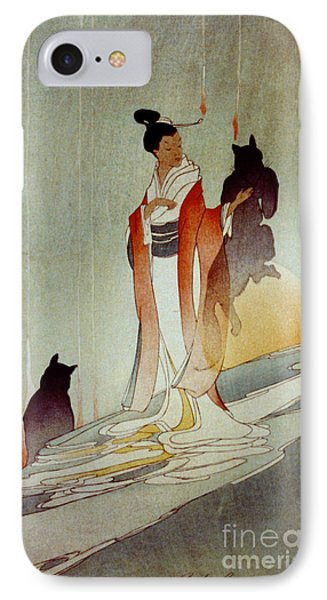 Fox Woman 1912 IPhone Case by Padre Art