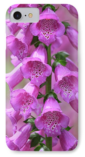 IPhone Case featuring the photograph Foxglove Flowers by Edward Fielding