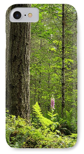 IPhone Case featuring the photograph Foxglove In The Woods by Jean Noren