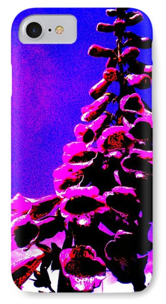 IPhone Case featuring the painting Foxglove by Renate Nadi Wesley
