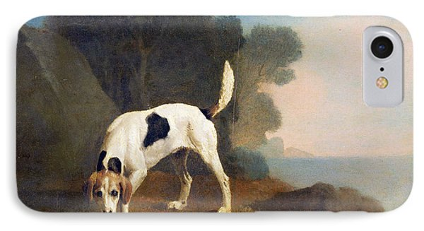 Foxhound On The Scent IPhone Case by George Stubbs