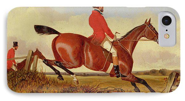 Foxhunting - Clearing A Bank IPhone Case by John Dalby