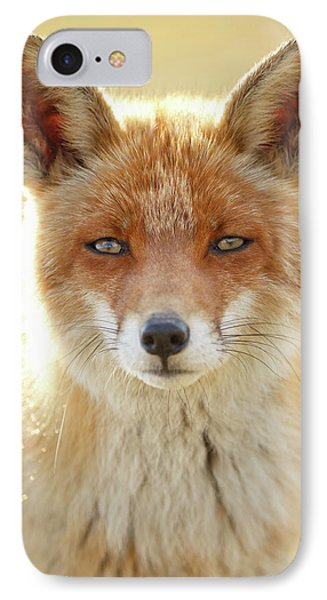 Foxy Faces Series- Serious Fox IPhone Case