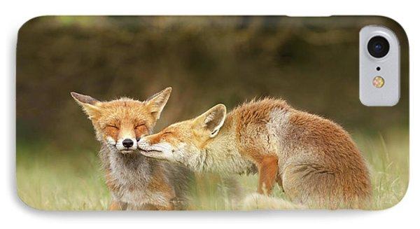 Foxy Love Series - Kiss IPhone Case