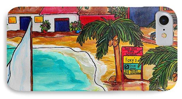 Foxy's At Jost Van Dyke IPhone Case by Patti Schermerhorn