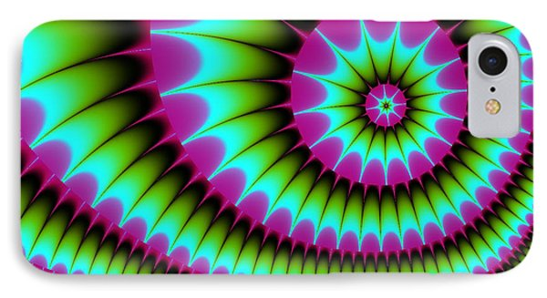 IPhone Case featuring the digital art Fractal  167 by Charmaine Zoe
