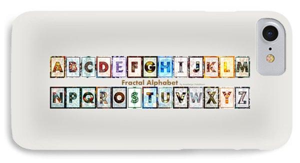 Fractal - Alphabet - Banner IPhone Case