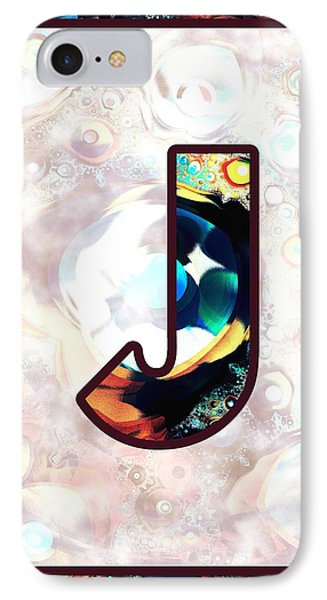 Fractal - Alphabet - J Is For Jewelry IPhone Case by Anastasiya Malakhova