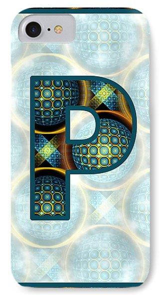 Fractal - Alphabet - P Is For Patterns IPhone Case by Anastasiya Malakhova