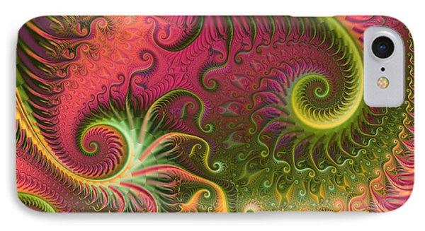 Fractal Ameba IPhone Case by Digital Art Cafe