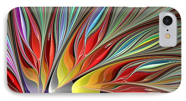 Fractal Bird Of Paradise Redux 2 IPhone Case by Peggi Wolfe