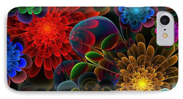 Fractal Bouquet IPhone Case by Lyle Hatch