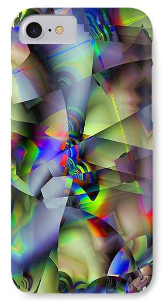 Fractal Cubism IPhone Case by Ron Bissett