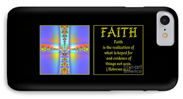Fractal Faith Hebrews 11 IPhone Case by Rose Santuci-Sofranko