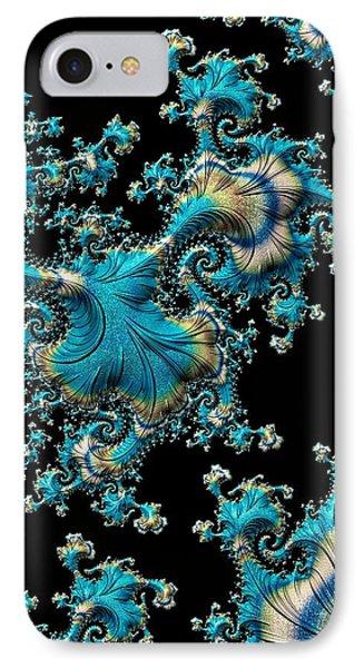 Fractal Filigree Blue IPhone Case
