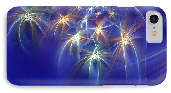 Fractal Fireworks IPhone Case by Richard Ortolano