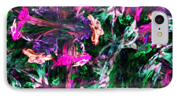 Fractal Floral Riot Phone Case by David Lane