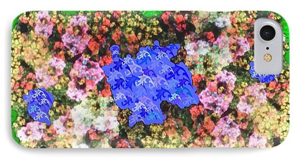Fractal Flower Garden Phone Case by Diamante Lavendar