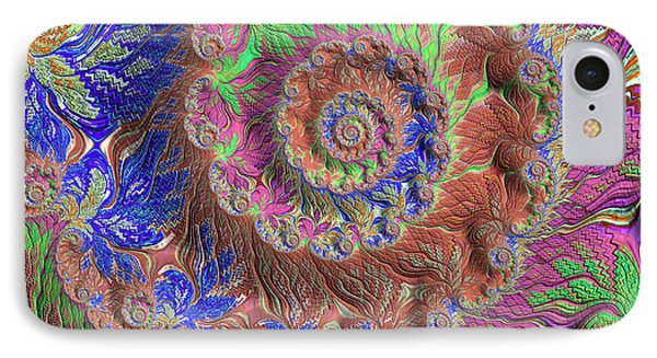 IPhone Case featuring the digital art Fractal Garden by Bonnie Bruno