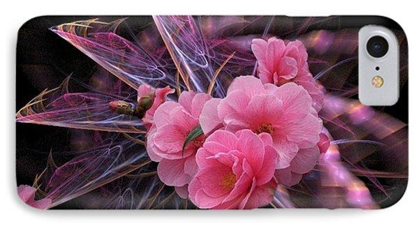 Fractal Meets Camellia  IPhone Case
