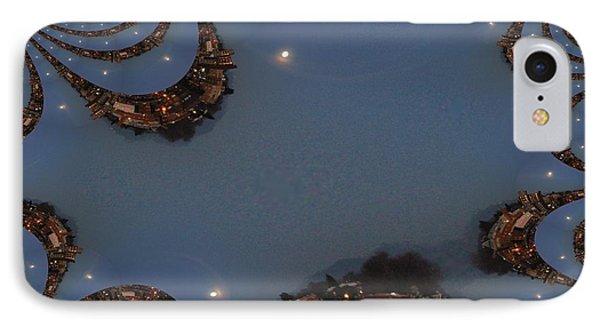 Fractal Moon Phone Case by Tim Allen