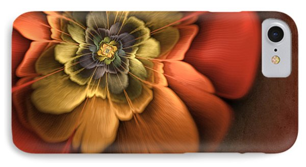 Fractal Pansy IPhone Case by John Edwards