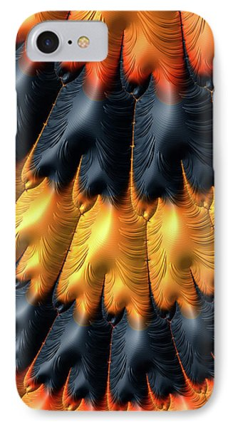 IPhone Case featuring the digital art Fractal Pattern Orange And Black by Matthias Hauser