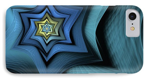 Fractal Star IPhone Case by John Edwards