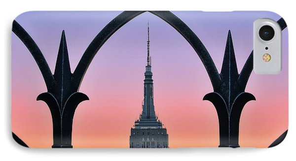 Framed Empire State Building Esb Nyc IPhone Case by Susan Candelario