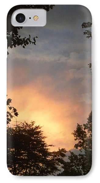 IPhone Case featuring the photograph Framed Fire In The Sky by Sandi OReilly