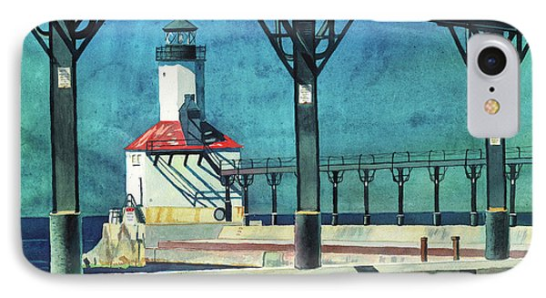 Framed Lighthouse IPhone Case by LeAnne Sowa