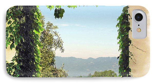 IPhone Case featuring the photograph Framing Napa Valley by Joan  Minchak