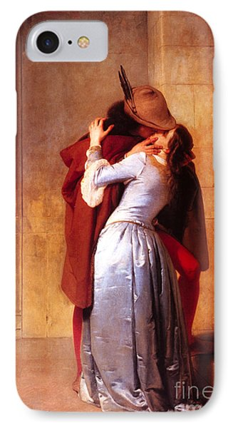 Francesco Hayez Il Bacio Or The Kiss IPhone Case by Pg Reproductions