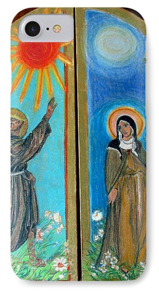 Francis And Claire Triptych IPhone Case