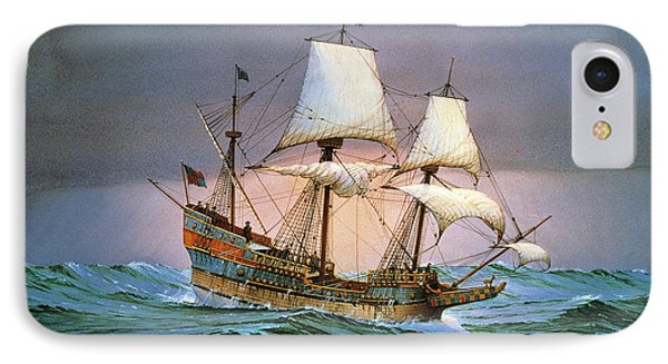 Francis Drake Sailed His Ship Golden Hind Into History IPhone Case