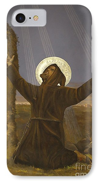 Francis Of Assisi Receives The Stigmata IPhone Case by Italian School