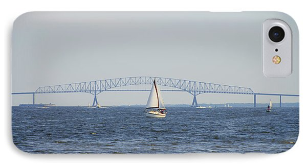 Francis Scott Key Bridge - Baltimore Maryland IPhone Case by Bill Cannon