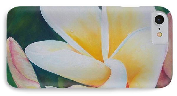 Frangipani After Rain Phone Case by Loueen Morrison